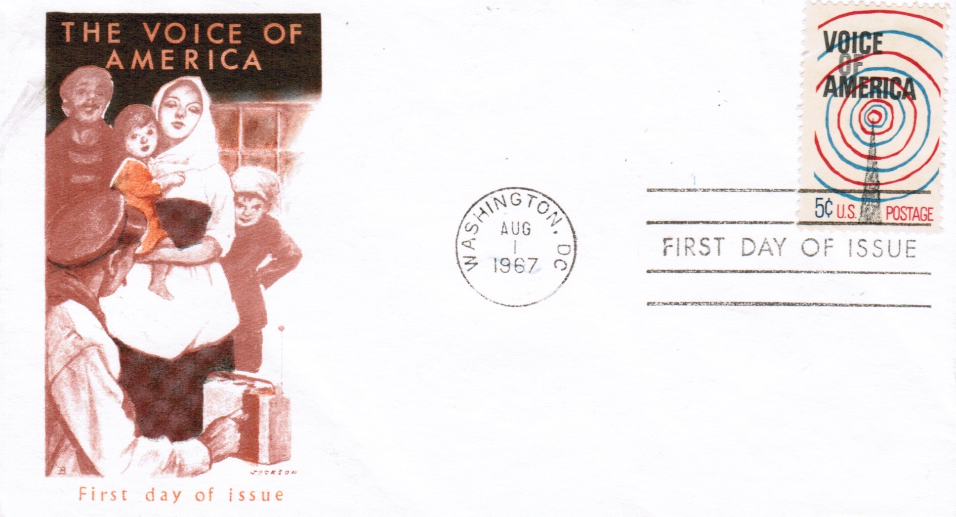 Voice of America August 1 1967 Stamp