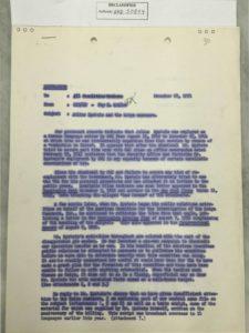Kohler, Foy D. Memo Julius Epstein and the Katyn massacre December 18 1951 p. 1